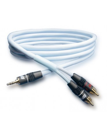 Supra BiLine-MP kabel audio mini jack 2x RCA