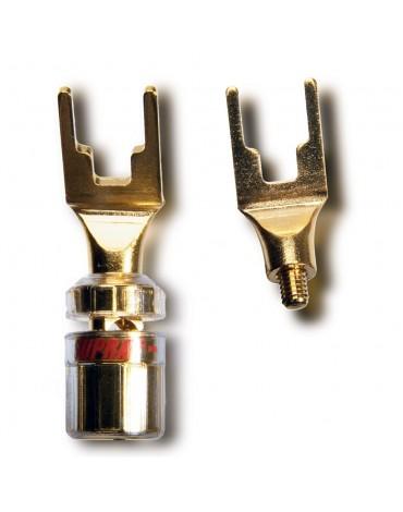 Supra CombiCon Spade wtyki głośnikowe, widełkowe